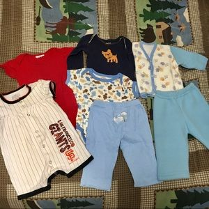 Boys 3/6M Clothing Bundle No Mystery Box 7 Piece